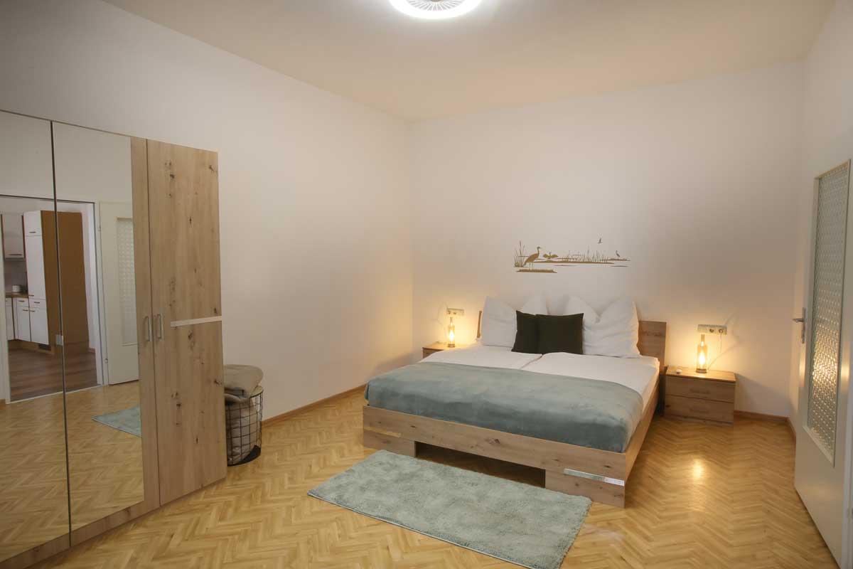 Müllner Apartment Schlafzimmer